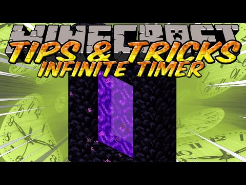 Minecraft Tips and Tricks - Infinite item timer with Nether Portal & chicken farm (Minecraft 1.4)
