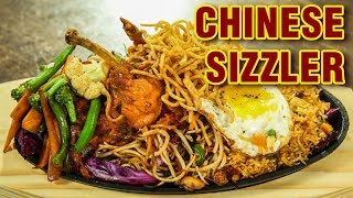 Chinese Sizzler | Chicken Sizzler Recipe | How To Make Chinese Sizzler At Home | Varun Inamdar
