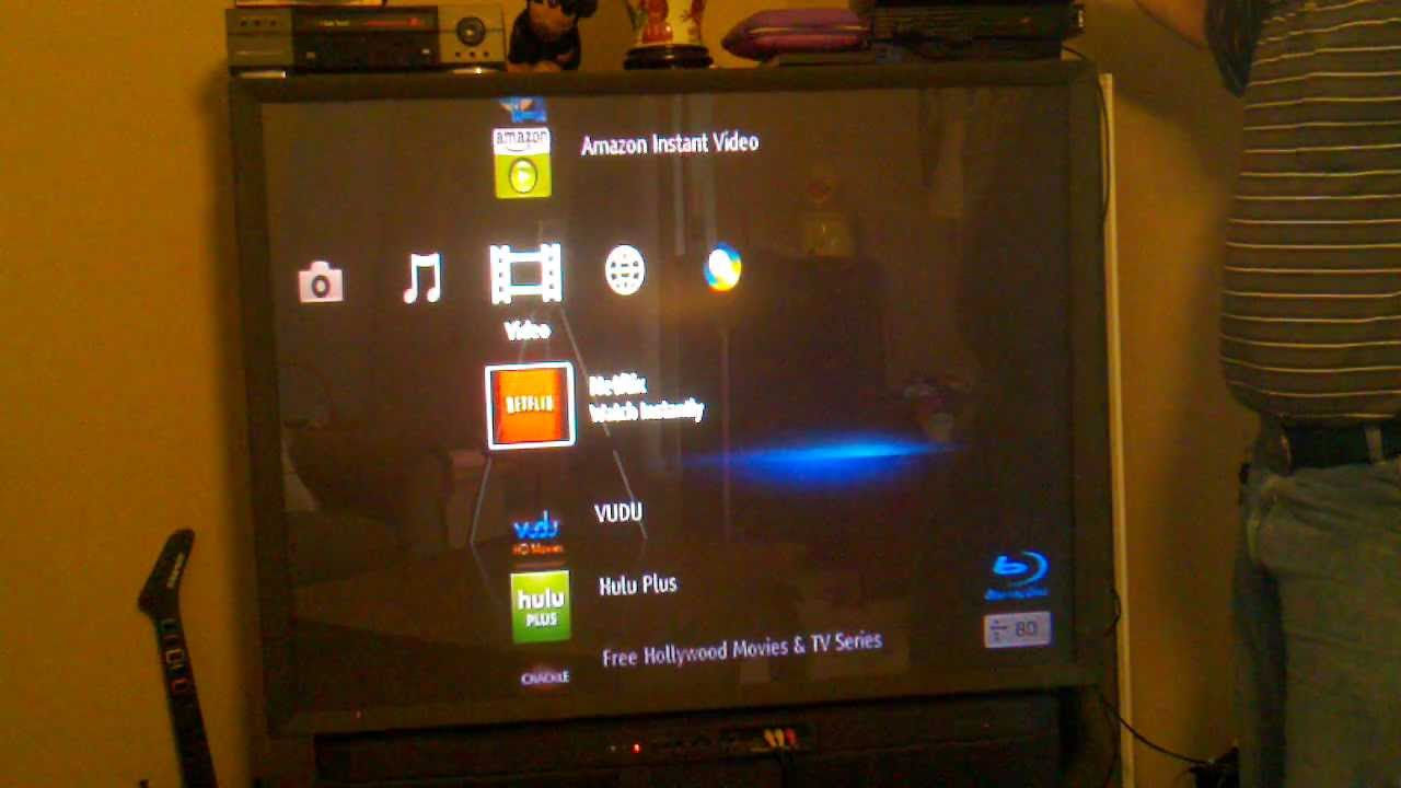 Sony Blue-Ray player to watch youtube on the big screen TV review - YouTube