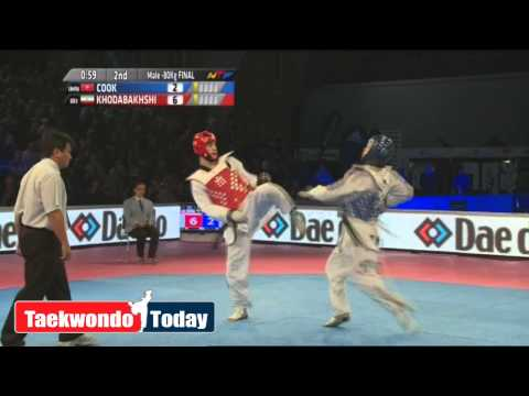 World Taekwondo Grand Prix 2014 Final -80 Kg Cook, Aaron Vs Khodabakhshi, Mahdi video