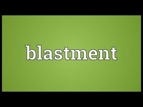 Header of blastment
