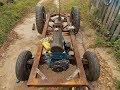 Самодельный трактор.Процесс сборки.Доделал раму и усилил. #34.