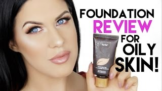 TARTE AMAZONIAN CLAY FOUNDATION FOR OILY SKIN! | REVIEW + 12 HOUR WEAR TEST!