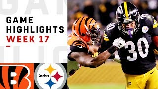 Bengals vs. Steelers Week 17 Highlights | NFL 2018