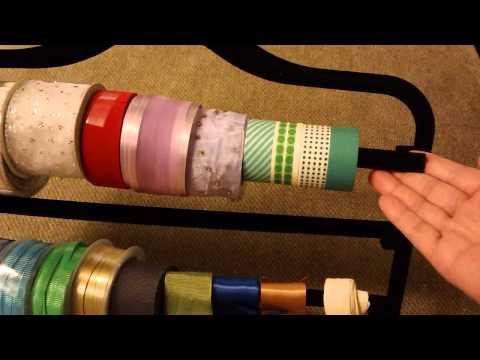 Cómo organizar tus cintas de regalo con esta idea de Pinterest