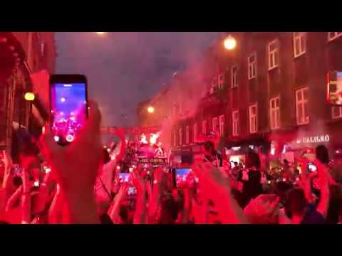 Croatian football team arrives in Zagreb after World Cup final, 16.07.2018. thumbnail