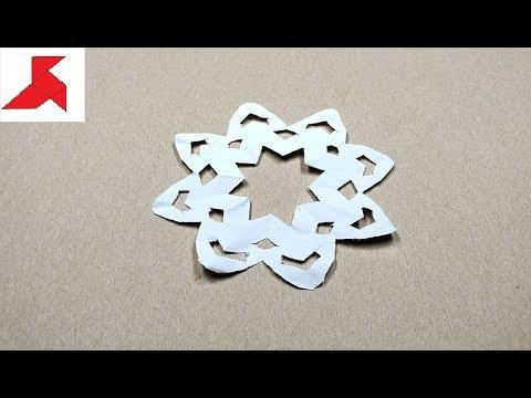 DIY - Как сделать СНЕЖИНКУ из бумаги а4 своими руками?