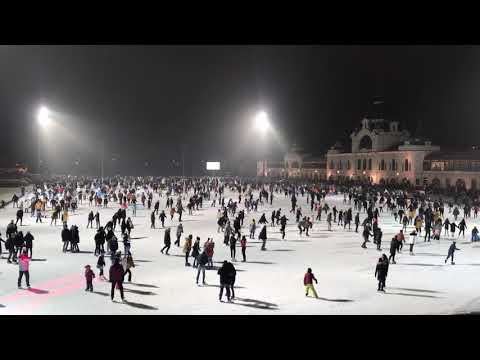 ブダペスト英雄広場でのスケートイベント Budapest skate event 2020 in Hősök tere 2020/JAN/02