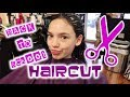 CUTTING OFF ALL MY HAIR - Back To School Haircut 2018 Cute Girl Curly Hairstyle