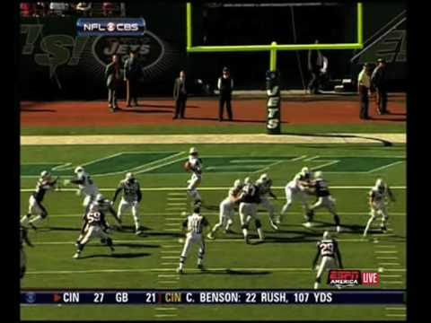 Jets vs Patriots - Every Mark Sanchez Throw (9-20-09) Video