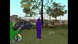 Los Teletubbies buscan misterios en GTA San Andreas Loquendo