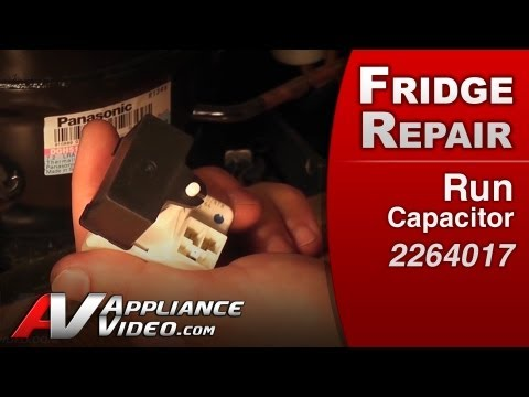 Refrigerator Repair Starting components.Run Capacitor- Whirlpoo .Kenmore.KitchenAid .Roper# 2264017