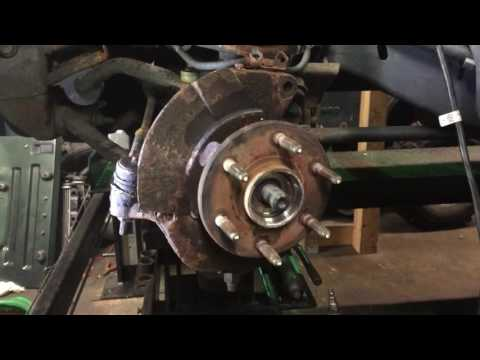 How to remove stuck wheel hub bearing on 02 GMC Sierra 1500 ..Tip