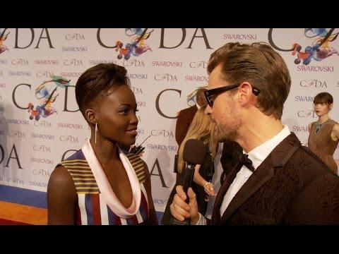 Lupita Nyong'o Interview on the Red Carpet at the CFDA Fashion Awards