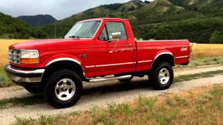 1995 Ford F150 XLT 4WD SHORTBED, 1 OWNER, 118K MILES, SUPER CLEAN, RUNS STRONG, COLD AC!
