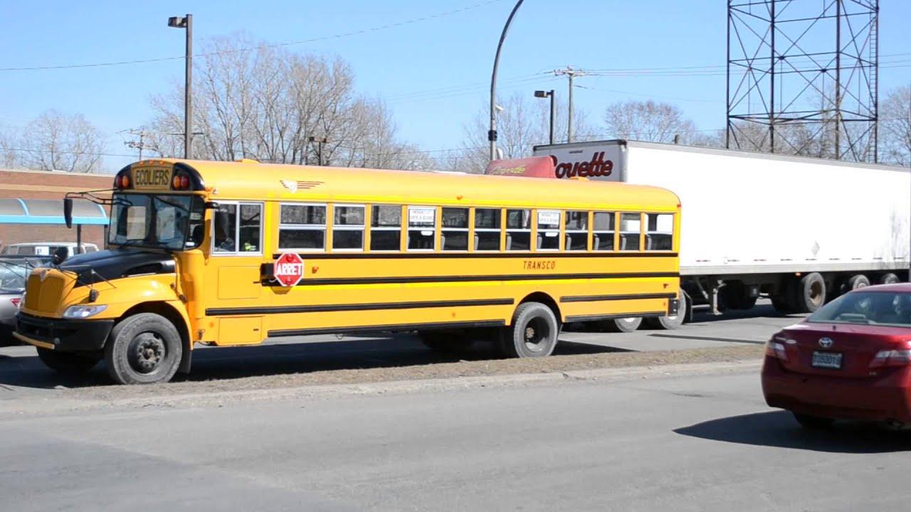 Peterbilt 359 Bogie / International School Bus Action And ...