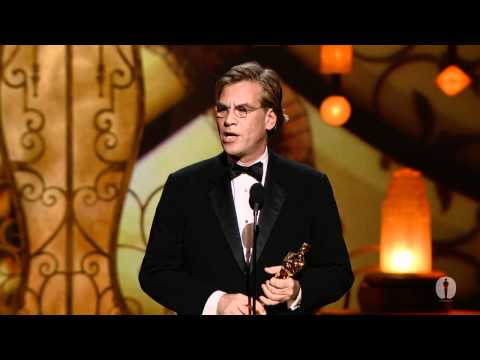 "Aaron Sorkin winning Best Adapted Screenplay for ""The Social Network"""