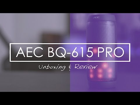 AEC BQ-615 Unboxing & Review - BEST PORTABLE BLUETOOTH SPEAKERS!