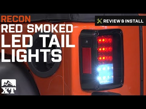 Jeep Wrangler (2007-2017 JK) Recon Red Smoked LED Tail Lights Review & Install