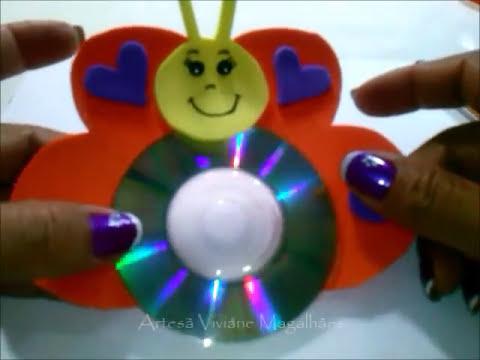 Como reciclar CDs artesanato para todas as idades