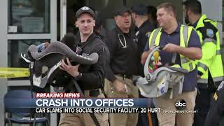 20 people injured after car crashes into Social Security office ABC News