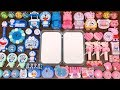 Special Series #26 BLUE DOREAMON vs PINK PEPPA PIG !! Mixing Random Things into Glossy Slime