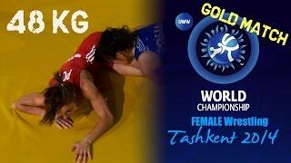 Gold Match - Female Wrestling 48 kg - I. MATKOWSKA (POL) vs E. TOSAKA (JPN) - Tashkent 2014