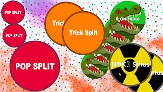 Agar.io - Solo Trick Splits Pop Splits (DESTROYING TEAMS IN AGARIO)
