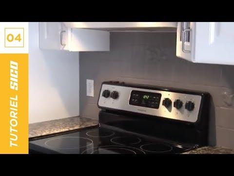 Comment peindre un dosseret avec sico youtube for Peindre un carrelage de cuisine
