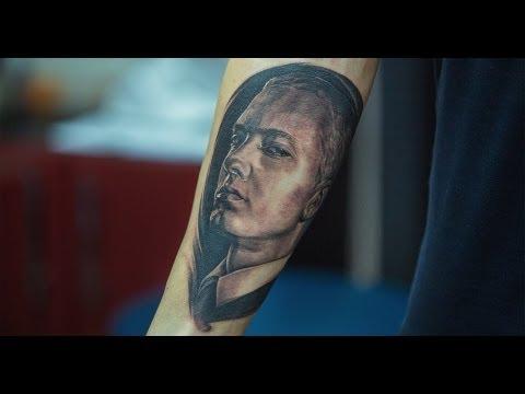 Eminem [GReY Art Tattoo Studio] Eminem portrait tattoo