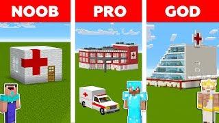 Minecraft NOOB vs PRO vs GOD: HOSPITAL in Minecraft / Funny Animation