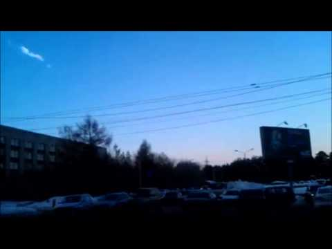 Meteor Shards Hit Russia!  Very Scary! 2013! Dash Cam