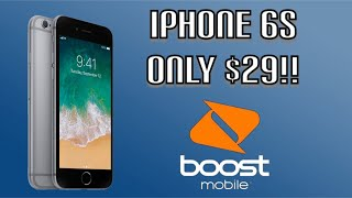 New IPhone 6s for $29 Boost Mobile Promotion