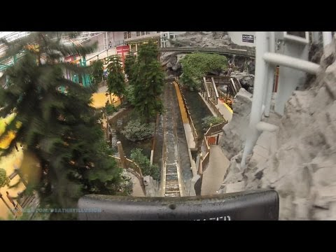 Log Chute On-ride Front Seat (hd Pov) Nickelodeon Universe video