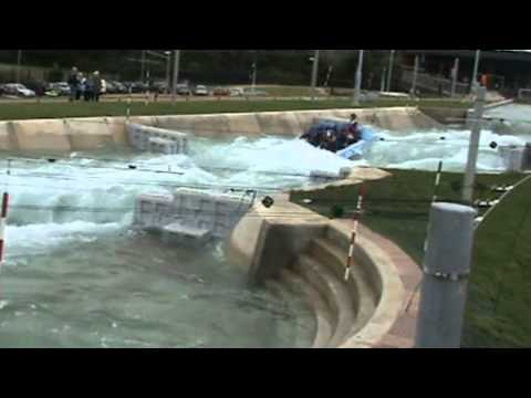 White Water Rafting at Olympics 2012 Venue Waltham Cross and Accident