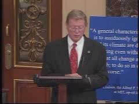 Sen Inhofe debunks the science in Al Gore's movie