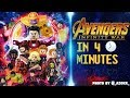 MARVELS Avengers: Infinity War In 4 Minutes [LEGO STOP MOTION]