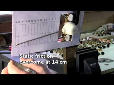 Ever So Slightly: Testing Static Friction; featuring Jorg Graf Tuning Machines