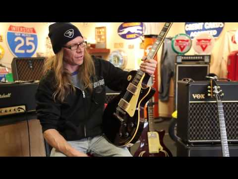 """Mike Hickey plays a 1960 Gibson Les Paul Standard """"Black Burst"""" at Rumble Seat Music Southwest"""