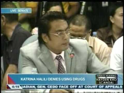 Katrina Halili - Hayden Kho, Senate hearing 1
