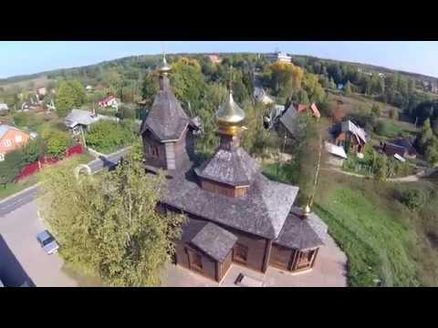 Аэровидеосъемка Храма Николы Чудотворца в селе Федоскино