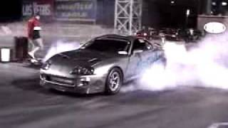 WORLDS FASTEST TOYOTA SUPRA BIG TURBO DRAG 7.88 1500 HP