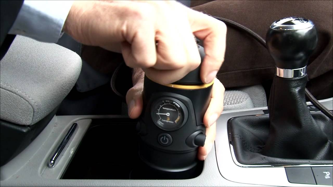 machine caf expresso handpressoauto 12 volts disponible sur youtube. Black Bedroom Furniture Sets. Home Design Ideas