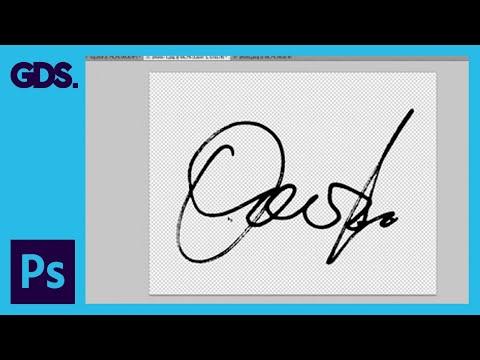 Create a Digital Signature in Adobe Photoshop: Colour Range Tool & Minimum Tool