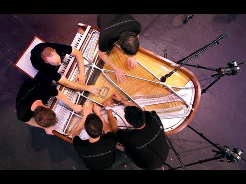 One Direction - What Makes You Beautiful (5 Piano Guys, 1 piano) - The...