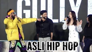 Live Ranveer Singh Asli Hip Hop Song With Alia Bhatt Gully Boy Trailer Launch