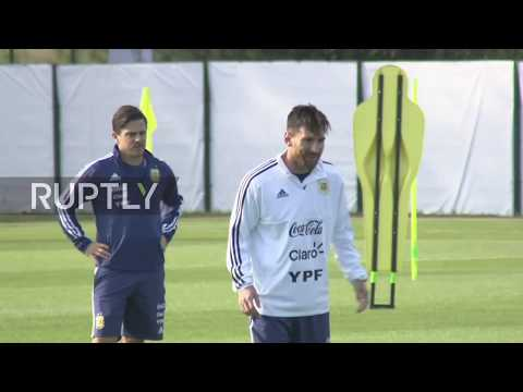 Russia: Messi, Argentina team train in ahead of World Cup