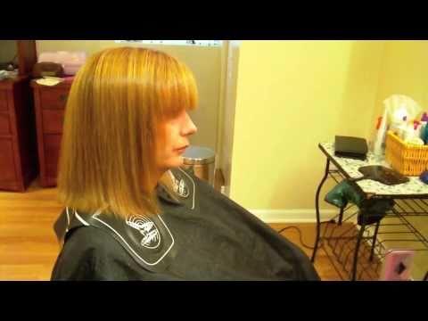 How to do an A-Line Bob Haircut: Scissor Over Comb