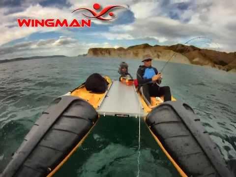 Wingman - catamaran kayaks and motorboat