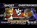 The Script    Ghost (Fox) Vs.  Overtriforce (Sheik)   Smash Melee Winners Top 64